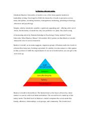 Is Maslow relevant today MMM.docx