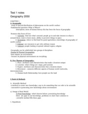 EXAM 1 notes GEOG 2050