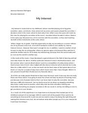 My interest, essay for college.docx