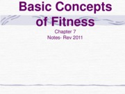 Basic Concepts of Fitness-NOTES rev-2011