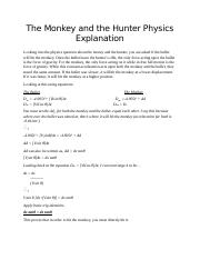 The Monkey and the Hunter Physics Explanation.docx