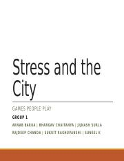 Stress and the City