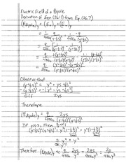 Dipole Electric Field Derivation Homework