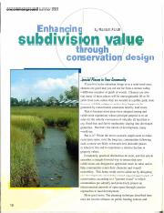 Enhancing Subdivision Value (NAR)
