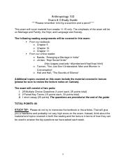 Anthropology 103 Exam #3 Study Guide.docx