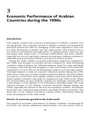 Economic Performance of Arabian Countries during the 1990s