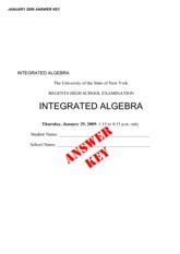 Integrated Algebra Practice Exam with Answers
