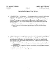 Lab1-Capital Budgeting
