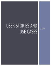 Use cases and user stories(1)