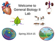 General Bio 2 Lab Lecture notes 1