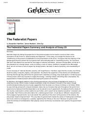 The Federalist Papers Essay 15 Summary and Analysis | GradeSaver