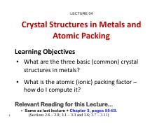 04_MTE 271_Crystal Structures in Metals & Atomic Packing Factors.pdf