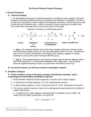Handout 3 - Serine Protease Family of Enzymes