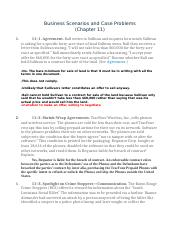 Business Scenarios and Case Problems (Chapter 11) .docx