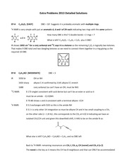 CHEM 213 Fall 2013 Extra Problems for Midterm Practice Solutions