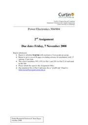 Power Electronics 304 Assignment No 2