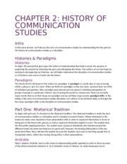 Chapter 2 History of Communication Studies