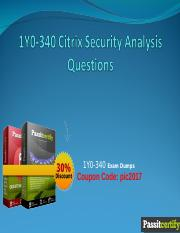 1Y0-340 Citrix Security Analysis Questions.ppt