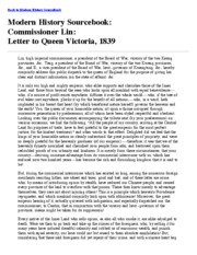 Letter to Queen Victoria, 1839