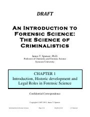 1.1 Introduction to Forensic Science