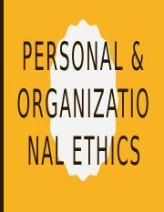 2 Personal & Organizational ethics.pptx