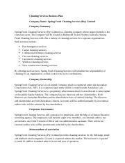 Cleaning Services Business Plan (1)