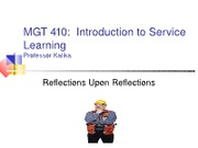 MGT 410 Fall12 Present 2 Service Learning OverviewS (1)