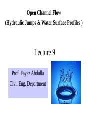 Hydraulics_L9_Water_surface