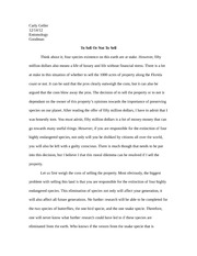 Fifty million dollar essay