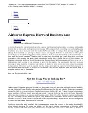 Airborne Express Harvard Business Case Essay Sample - Papers And Articles On Bla Bla Writing.html