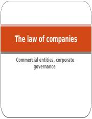 The law of companies - 2