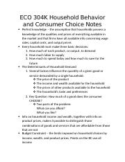 Household Behavior and Consumer Choice ECO 304K Notes.docx