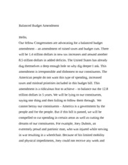 Balanced Budget Amendment