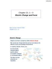 Lecture 01 - Electric Charge and Force