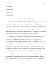 Gay Marriages Essay #1.docx