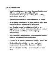 Social Stratificatio1
