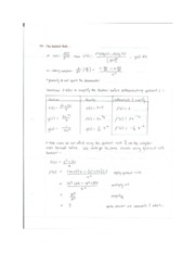 Quotient and Chain Rule