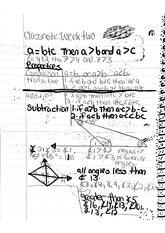 math classnote: Triangle Inequalities Math Problems