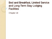 Chapter 18 B&B Limited Service & Long-Term Lodging