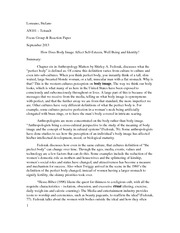 Reaction Paper-ch.6 The perfect Body