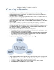 Textbook Chapter 7- Creative Industries
