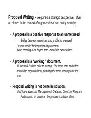 Proposal Writing, Trends and Sources of Assistance0.doc