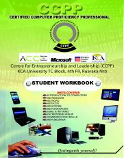 CCPP STUDENT WORKBOOK AS AT 15TH JAN 2014
