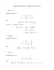 Cal 2 test 1 solutions