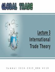 Summer '15_Global Trade_Lecture 3
