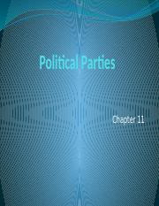 Political Parties -- Ch. 11 (1)