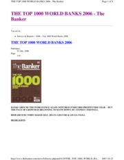 THE_TOP_100 Banks in World
