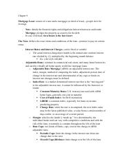 REAL 370 - Principles of Real Estate - Chapter 9 notes
