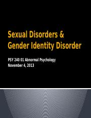 Chapter 13_Sexual Disorders and Gender Identity Disorder_BB notes