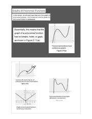 Graphs of polynomial functions notes